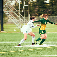 5th year Forward, Brianna Wright (7) of the Regina Cougars during the Women's Soccer home game on Sun Sep 23 at U of R Field. Credit: Arthur Ward/Arthur Images