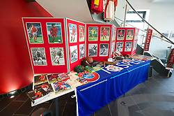NEWPORT, WALES - Saturday, April 20, 2013: A collection of Welsh football memorabilia at the opening of the FAW National Development Centre in Newport. (Pic by David Rawcliffe/Propaganda)