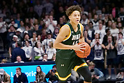 Jordan King (14) of Siena looks to pass the ball during an NCAA college basketball game against Xavier, Friday, Nov. 8, 2019, at the Cintas Center in Cincinnati, OH. Xavier defeated Siena 81-63. (Jason Whitman/Image of Sport)