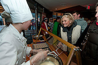 Chefs create pralines for the Grand Opening of the House of Switzerland in Whistler for the 2010 Winter Olympic Games.