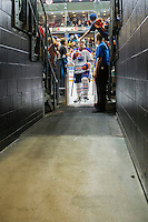PENTICTON, CANADA - SEPTEMBER 17: Dallas Valentine #91 of Edmonton Oilers exits the ice after the win against the Calgary Flames on September 17, 2016 at the South Okanagan Event Centre in Penticton, British Columbia, Canada.  (Photo by Marissa Baecker/Shoot the Breeze)  *** Local Caption *** Dallas Valentine;