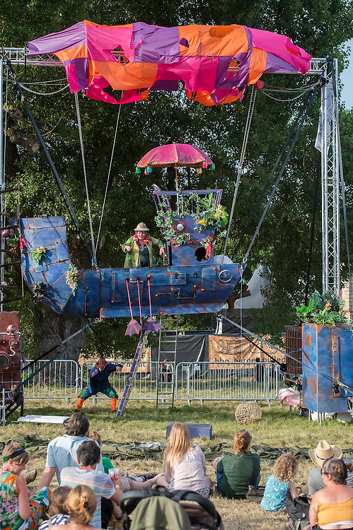 Childrens fantasy entertainment - The 2016 Latitude Festival, Henham Park, Suffolk.