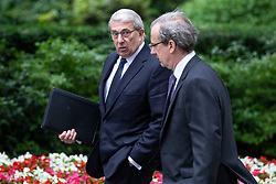 © Licensed to London News Pictures. 04/06/2018. London, UK. Chairman of BAE Systems Sir Roger Carr (L) arrives on Downing Street for a meeting of business leaders with Prime Minister Theresa May, The Chancellor of The Exchequer Philip Hammond, Secretary of State for International Trade Liam Fox and Secretary of State for Exiting the European Union David Davis. Photo credit: Rob Pinney/LNP