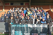 Jeff Stelling Men United March rounding off a 250-mile tour of 31 football clubs by walking from the Cherry Red Records Stadium on 30 March and he will stop off at Brentford, Fulham, Chelsea and QPR, before finishing off at Wembley Stadium on 30 March 2016. Photo by Stuart Butcher.