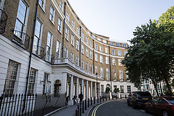 © Licensed to London News Pictures. 31/07/2015. London, UK. A general view of 24 Great Cumberland Place, W1, where police were called shortly before 0100hrs this morning to an incident in which a 20 year old man fell into the chimney of the seven storey building and died. Photo credit : James Gourley/LNP