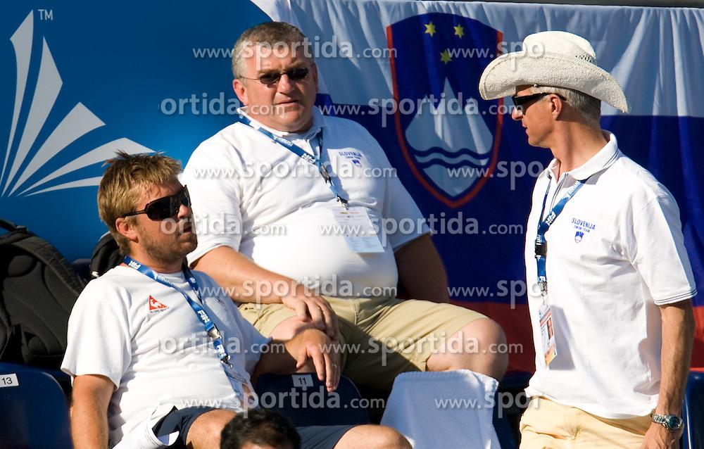 Gorazd Podrzavnik, Darjan Petric and Miran Kos during the 13th FINA World Championships Roma 2009, on July 29, 2009, at the Stadio del Nuoto,  in Foro Italico, Rome, Italy. (Photo by Vid Ponikvar / Sportida)