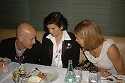 Justin Portman, Bianca Jagger and Natalia Vodianova, Natalia Vodianova and Elle Macpherson host a dinner in honor of Francisco Costa (creative Director for women) and Italo Zucchelli (creative director for men)  of Calvin Klein. Locanda Locatelli, 8 Seymour St. London W1. ONE TIME USE ONLY - DO NOT ARCHIVE  © Copyright Photograph by Dafydd Jones 66 Stockwell Park Rd. London SW9 0DA Tel 020 7733 0108 www.dafjones.com