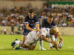 June 16, 2018 - Houston, Texas, US - USA Men's Rugby Team centre Paul Lasike (12) and Scotland Men's Rugby Team Dougie Fife (23) during the Emirates Summer Series 2018 match between USA Men's Team vs Scotland Men's Team at BBVA Compass Stadium, Houston, Texas (Credit Image: © Maria Lysaker via ZUMA Wire)