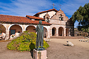 Father Serra statue, Mission San Antonio de Padua (3rd California Mission - 1771), California