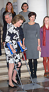 Falun, 01-03-2015<br /> <br /> <br /> King Phillipe and Queen Mathilde recieved active women on the occasion of International Women's Day.<br /> <br /> Photo: Bernard Ruebsamen/Royalportraits Europe
