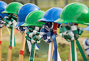Groundbreaking ceremonies for the Mickey Leland College Preparatory Academy, April 16, 2015.