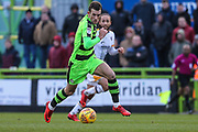 Forest Green Rovers Christian Doidge(9) runs forward during the EFL Sky Bet League 2 match between Forest Green Rovers and Port Vale at the New Lawn, Forest Green, United Kingdom on 6 January 2018. Photo by Shane Healey.