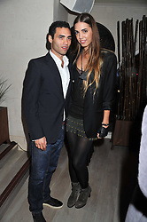 JAKE CALLIVA and AMBER LE BON at a party to launch Senkai - London's first modern Japanese-inspired restaurant at 65 Regent Street, London on 26th October 2011.