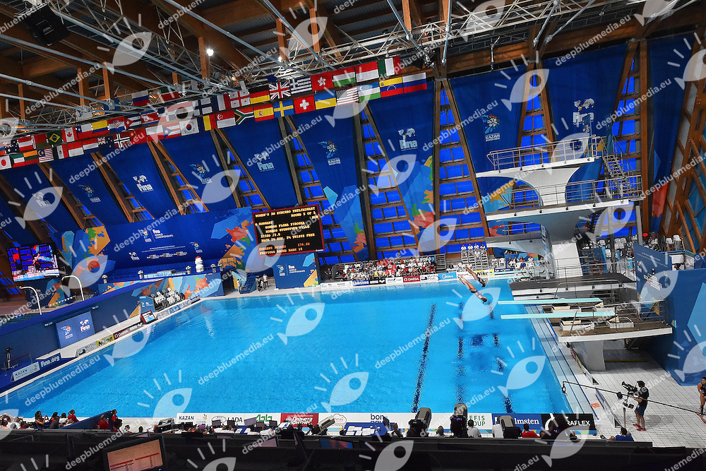 Panoramic view of the venue <br /> Day2 25/07/2015 Aquatics Palace <br /> Diving / Tuffi Women's 3m Synchro Springboard - Trampolino Sincronizzato 3m Donne <br /> XVI FINA World Championships Aquatics  <br /> Kazan Tatarstan RUS <br /> Photo Andrea Staccioli/Deepbluemedia/Insidefoto