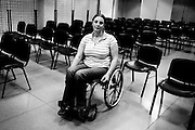 Nadia Otmani, moroccan; while on holiday in Spain to visit her sister who was suffering violence attacks by her husband, she found her self in the middle of a gun attack by him by defending her sister and son, that let her paraplegic for life.