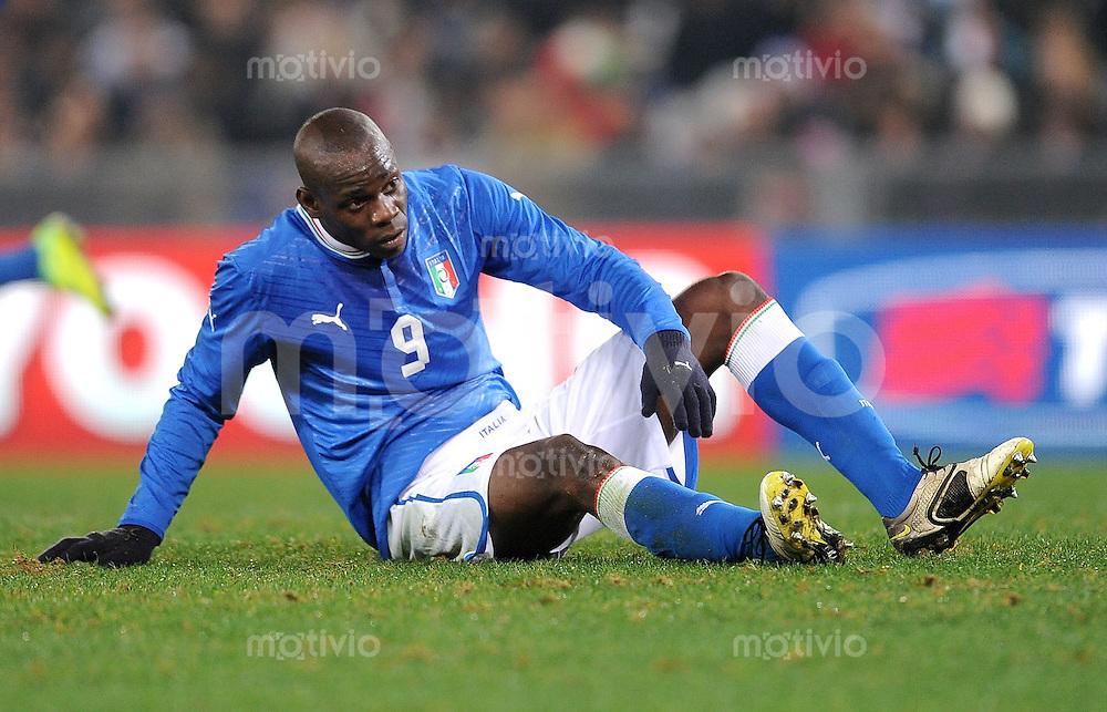 Fussball International, Nationalmannschaft   EURO 2012 Play Off, Qualifikation, Italien - Uruguay      15.11.2011 Mario Balotelli  (Italien)