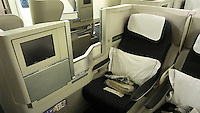British Airways Club World seat. Business Class.