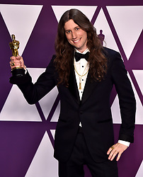 Ludwig Goransson with his award for Best Original Score for Black Panther in the press room at the 91st Academy Awards held at the Dolby Theatre in Hollywood, Los Angeles, USA.
