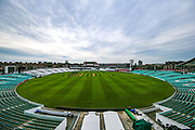 General view of The Oval ahead of the Specsavers County Champ Div 1 match between Surrey County Cricket Club and Kent County Cricket Club at the Kia Oval, Kennington, United Kingdom on 10 July 2019.