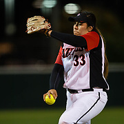 15 February 2018: The San Diego State softball team hosts #25 Kentucky to open up the 28th annual Campbell/Cartier Classic. San Diego State starting pitcher Marissa Moreno (33) seen here during the top of the third inning. The Aztecs lost to the Wildcats 5-0.<br /> More game action at www.sdsuaztecphotos.com