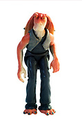 Jar Jar Star wars action figure on white background