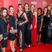 NLD/Amsterdam/20171219 - Inloop NOC/NSF Sportgala 2017, Nederlands damesvoetbal team,