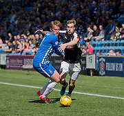Dundee&rsquo;s Kevin Holt take son Kilmarnock&rsquo;s Sean Longstaff - Kilmarnock v Dundee in the Ladbrokes Scottish Premiership at Rugby Park, Kilmarnock, Photo: David Young<br /> <br />  - &copy; David Young - www.davidyoungphoto.co.uk - email: davidyoungphoto@gmail.com