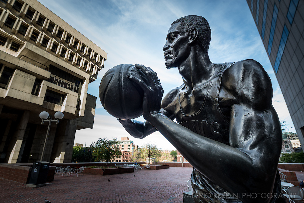 Bill Russell, the greatest of all Boston Celtics, has a dedicated bronze statue of himself on City Hall Plaza in Boston. A champion known for fierce competitiveness, Russell and the Celtics delivered 11 basketball titles in 13 seasons.