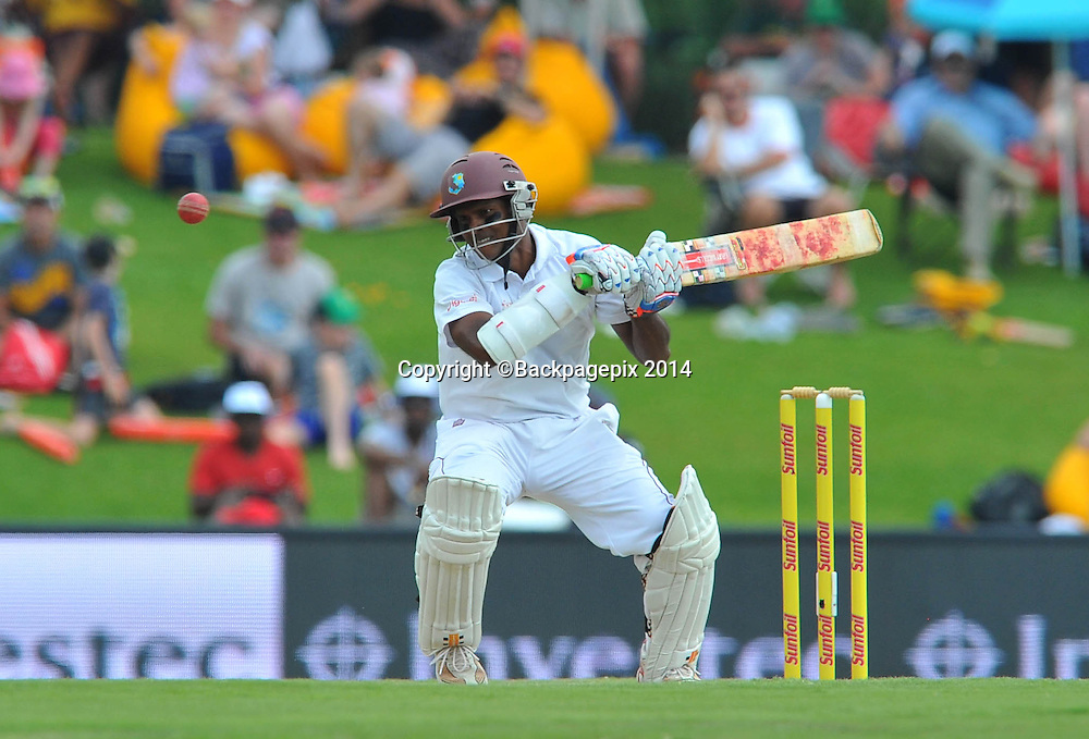 Shivnarine Chanderpaul of the West Indies during the 2014 Sunfoil 1st Test match between South Africa and West Indies at the Supersport Park in Pretoria, South Africa on December 19, 2014 ©Samuel Shivambu/BackpagePix