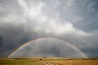 Double rainbow at Westcliffe, Colorado