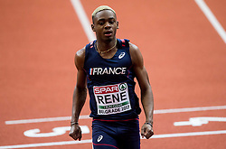 Marvin Rene of France competes in the 60m Men heats on day two of the 2017 European Athletics Indoor Championships at the Kombank Arena on March 4, 2017 in Belgrade, Serbia. Photo by Vid Ponikvar / Sportida