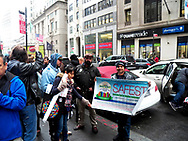 New Yorkers rally outside New York City Board of Elections at 42 Broadway before going inside to attend the NYC Board of Elections Commissioner's Meeting which is open to the public. Hundreds of thousands of voters had their registration deleted in the state of NY - 126,000 in Brooklyn alone. Thousands of voters had their party switched making them ineligible to vote. Thousands more were turned away. Over a hundred thousand NYC voters were FORCED to vote on affidavit and provisional ballots that were NOT counted in the primary results. Polls opened late, machines were faulty. Credit Mark Apollo/Hashtag Occupy Media