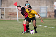 - FC Kettledrum (red and black) v DUMS (yellow and black), Shaun Kelly Memorial Cup Final at North End Park, Dundee, <br /> <br /> <br />  - &copy; David Young - www.davidyoungphoto.co.uk - email: davidyoungphoto@gmail.com