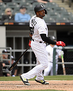 CHICAGO - APRIL 09:  Eloy Jimenez #74 of the Chicago White Sox bats against the Tampa Bay Rays on April 9, 2019 at Guaranteed Rate Field in Chicago, Illinois.  (Photo by Ron Vesely)  Subject:   Eloy Jimenez