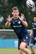 Flanker LUC BARBA of French rugby union team, Racing 92 from Paris, during training in Hong Kong. They are preparing ahead of their upcoming match against New Zealand's Super League team, The Highlanders