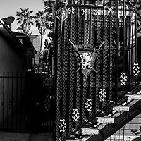 Stairs in Venice California, wrought iron details and design