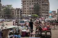 Tahrir Square, Cairo, the morning after the all-night celebration after protestors heard news of Morsi's arrest.