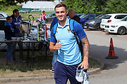 AFC Wimbledon attacker Tommy Wood (22) arriving during the EFL Sky Bet League 1 match between AFC Wimbledon and Accrington Stanley at the Cherry Red Records Stadium, Kingston, England on 17 August 2019.