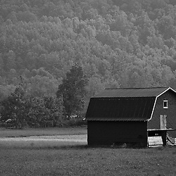 Heading into the mountains of North Carolina there are far fewer tabacco barns and more barns that have space for a tractor or horse.