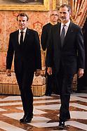 072618 King Felipe VI host a dinner with Emmanuel Macron, President of the Republic of France