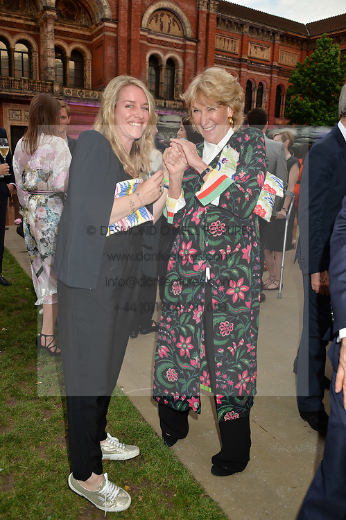 Left to right, LAURA LOPES and her aunt ANNABEL ELLIOT at the V&A Summer Party in association with Harrod's held at The V&A Museum, London on 22nd June 2016.