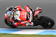 World Superbike Championship. Round 1. Phillip Island. Australia. Saturday 25.2. 2017 WSBK Motorcycle race, Motorrad-Rennen.  <br /> #7 Chaz Davies (GBR) Ducati Panigale R Aruba.it Racing-Ducati. <br /> - fee liable image, copyright © ATP/ Damir IVKA