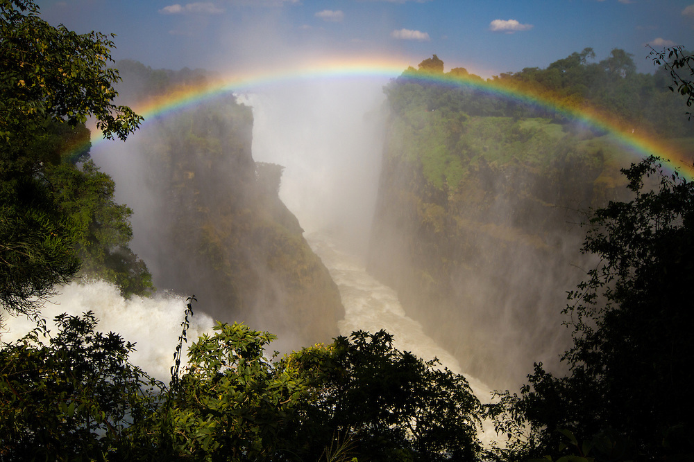 There is always a rainbow over Victoria Falls in wet season.