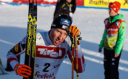 28.01.2017, Casino Arena, Seefeld, AUT, FIS Weltcup Nordische Kombination, Seefeld Triple, Langlauf, im Bild Bernhard Gruber (AUT) // Bernhard Gruber of Austria reacts after Cross Country Gundersen Race of the FIS Nordic Combined World Cup Seefeld Triple at the Casino Arena in Seefeld, Austria on 2017/01/28. EXPA Pictures © 2017, PhotoCredit: EXPA/ JFK
