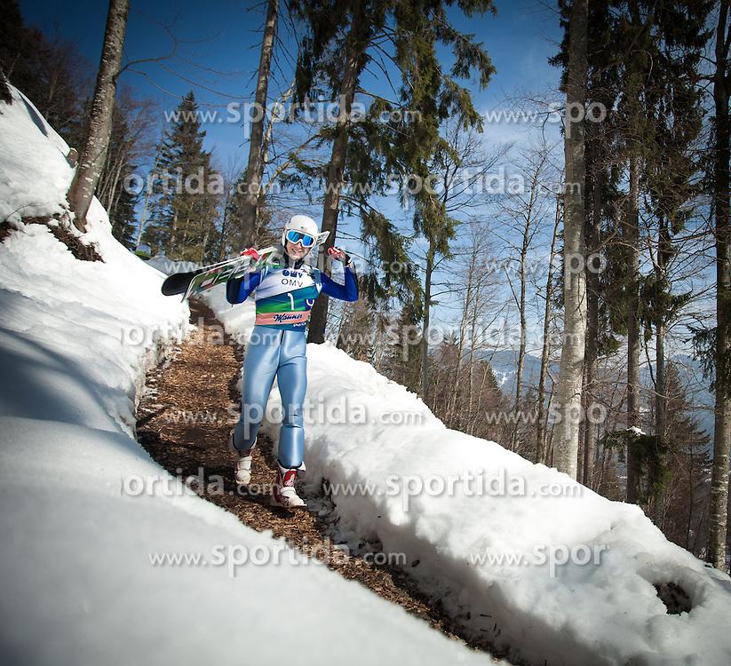 23.03.2013, Planica, Kranjska Gora, SLO, FIS Ski Sprung Weltcup, Skifliegen, Team, 1. Wertungsdurchgang, im Bild Nicholas Fairall (USA) // Nicholas Fairall of United States  before his 1st jump of the FIS Skijumping Worldcup Team Flying Hill, Planica, Kranjska Gora, Slovenia on 2013/03/23. EXPA Pictures © 2012, PhotoCredit: EXPA/ Juergen Feichter