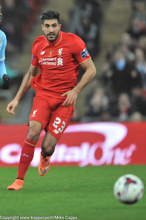 EMRE CAN LIVERPOOL FC, Liverpool FC v Manchester City FC Capital One Cup Final, Wembley Stadium, Sunday 28th Febuary 2016