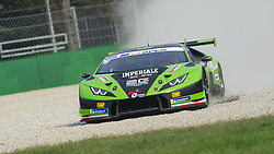 September 22, 2018 - Imperiale Racing (Liang/Giammaria) off track at Ascari during Qualifying session for Race 1 of International GT Open in Monza. (Credit Image: © Riccardo Righetti/ZUMA Wire)