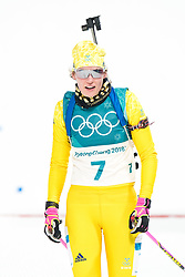 February 12, 2018 - Pyeongchang, SOUTH KOREA - 180212  Hanna …berg of Sweden after the Women's Biathlon 10km Pursuit during day three of the 2018 Winter Olympics on February 12, 2018 in Pyeongchang..Photo: Jon Olav Nesvold / BILDBYRN / kod JE / 160156 (Credit Image: © Jon Olav Nesvold/Bildbyran via ZUMA Press)