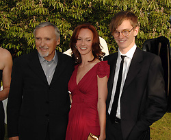 Left to right, DENNIS HOPPER, his wife VICTORIA and his son HENRY HOPPER at the annual Serpentine Gallery Summer Party in association with Swarovski held at the gallery, Kensington Gardens, London on 11th July 2007.<br />