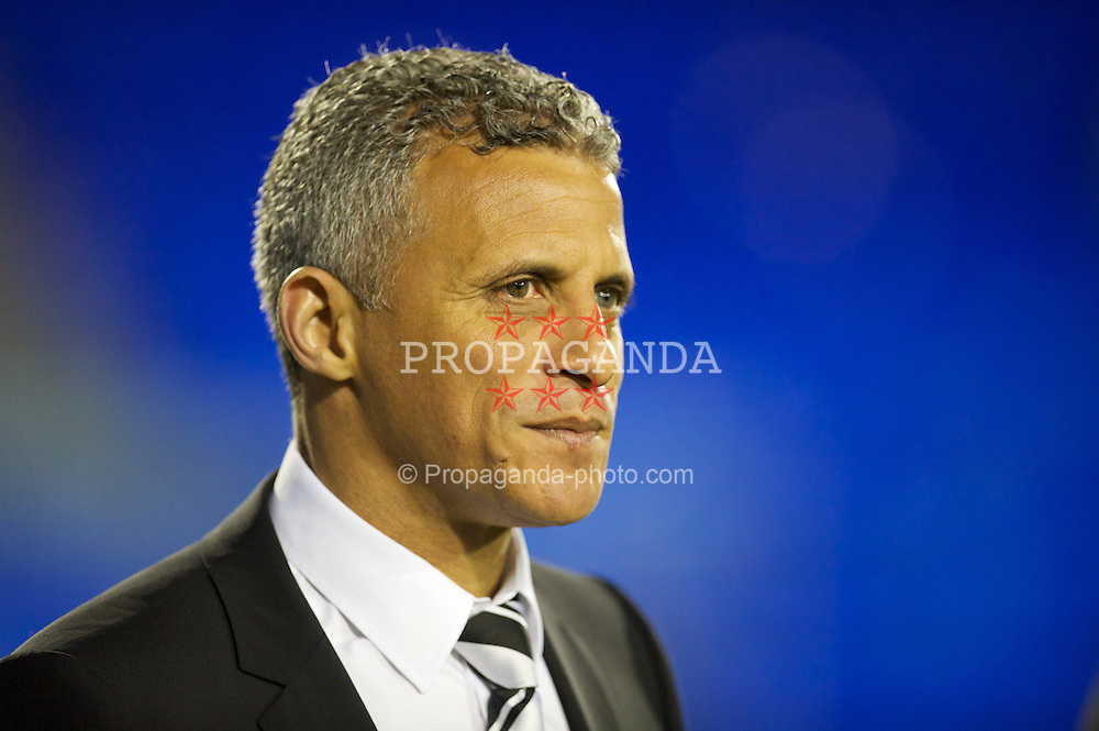 BIRKENHEAD, ENGLAND - Tuesday, March 6, 2012: Notts County's manager Keith Curle before the Football League One match against Tranmere Rovers at Prenton Park. (Pic by David Rawcliffe/Propaganda)